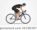 Sportsman cycling on white background 36196387