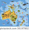 Australia and Oceania flora and fauna map 36197802