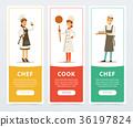 cook, chef, uniform 36197824