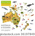 Australia and Oceania flora and fauna map 36197849