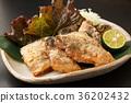 mackerel, fried, food 36202432