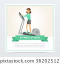gym, woman, vector 36202512