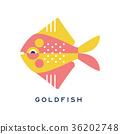 鱼 金鱼 矢量 36202748