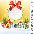 Christmas presents with a gift card  36207011
