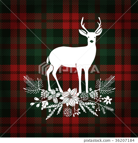 Merry Christmas greeting card, invitation. Deer 36207184