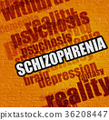Healthcare concept: Schizophrenia on Yellow Wall . 36208447