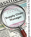 Supply Chain Manager Hiring Now. 3D. 36208476