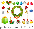 christmas ornaments vectors 36213915