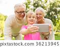 granddaughter, selfie, senior 36213945