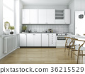 scandinavian vintage kitchen with dining table 36215529