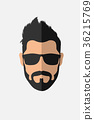 Bearded man with sunglasses 36215769