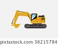 Grunge Tractor heavy bulldozer vector 36215784
