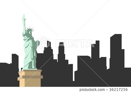 Vector statue of Liberty design, illustrations 36217256