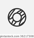 Sugar donut Vector illustration icon symbol 36217308