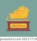 Golden santa sleigh trophy 36217719
