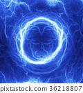 Blue coil lightning, electrical background 36218807
