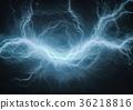 Blue electric lightning 36218816