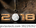 2018 New Year - Old Broken Pocket Watch 36220262