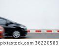 Motion blur driving car 36220583