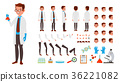 Scientist Man Vector. Animated Character Creation 36221082