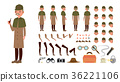 Detective Vector. Animated Tec Character Creation 36221106