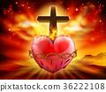 Sacred Heart Christian Illustration 36222108