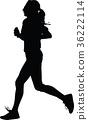 runner, silhouette, vector 36222114