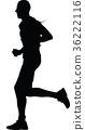 runner silhouette. run vector 36222116