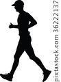 runner silhouette. run vector 36222137
