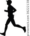 runner, silhouette, vector 36222138