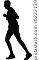 runner silhouette. run vector 36222139