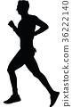 runner silhouette. run vector 36222140