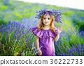 romantic portrait of the beautiful little girl 36222733