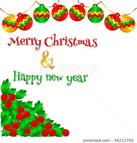 Vector Lovely Christmas Card.Pattern 3 36222760