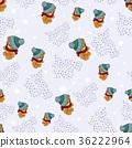bear, vector, pattern 36222964