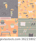 Natural Seamless Pattern Urban City Background 36223802