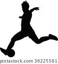 soccer women silhouette. girl play soccer 36225561