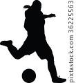soccer women silhouette. girl play soccer 36225563