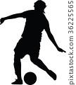 soccer women silhouette. girl play soccer 36225565