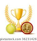 Tennis Achievement Award Vector. Sport Banner 36231426