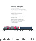 locomotive, container, train 36237039