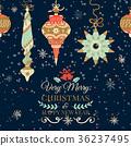 Holiday and Christmas hand drawing greeting card 36237495
