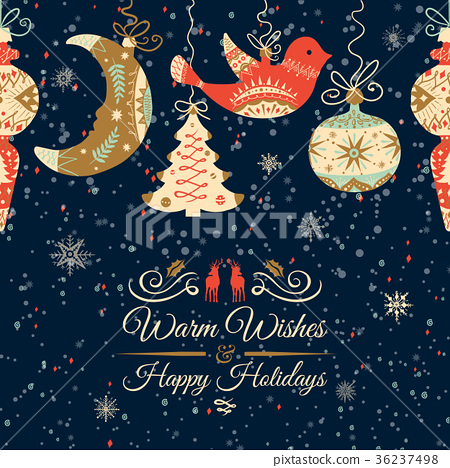 Holiday and Christmas hand drawing greeting card 36237498