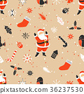Merry Christmas seamless pattern with Santa Claus 36237530