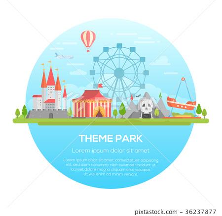 Theme park - modern vector illustration 36237877
