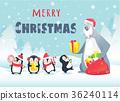 christmas, animals, vector 36240114
