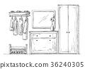 Furniture in the hallway. 36240305