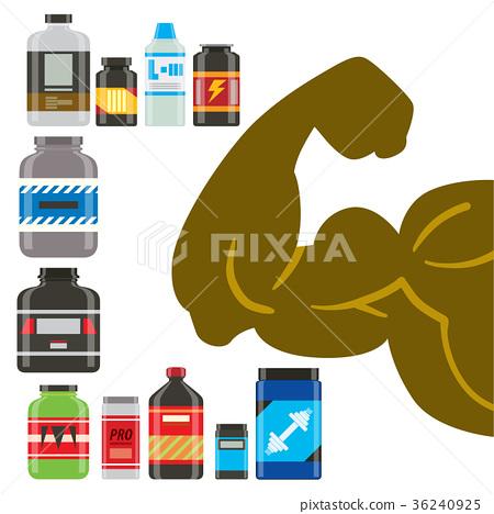 Sport nutrition healthy food vector fitness diet 36240925