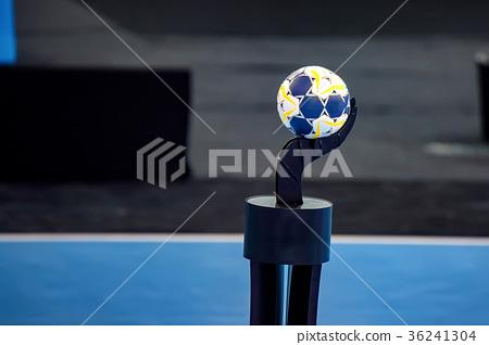 Close up handball on stand 36241304