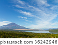 후지산 푸른 하늘 파노라마 대 36242946